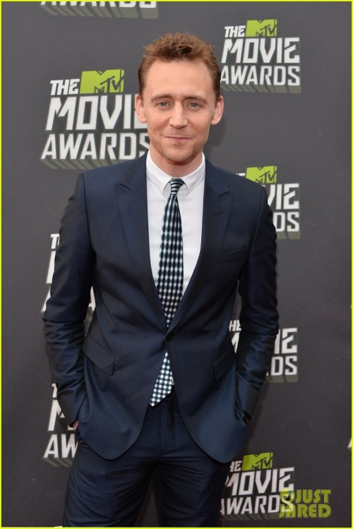 Tom Hiddleston - MTV Movie Awards 2013 Red Carpet via http://www.justjared.com