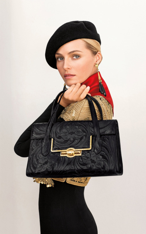 ralphlauren:   Ralph Lauren Collection  Be the first to see the Black Tooled Bag from the Argentine Collection from tomorrow's Sunday Styles