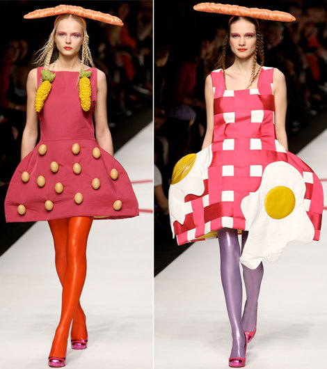 steelballrunway:  agatha ruiz de la prada  Breakfast Princesses on their day out.