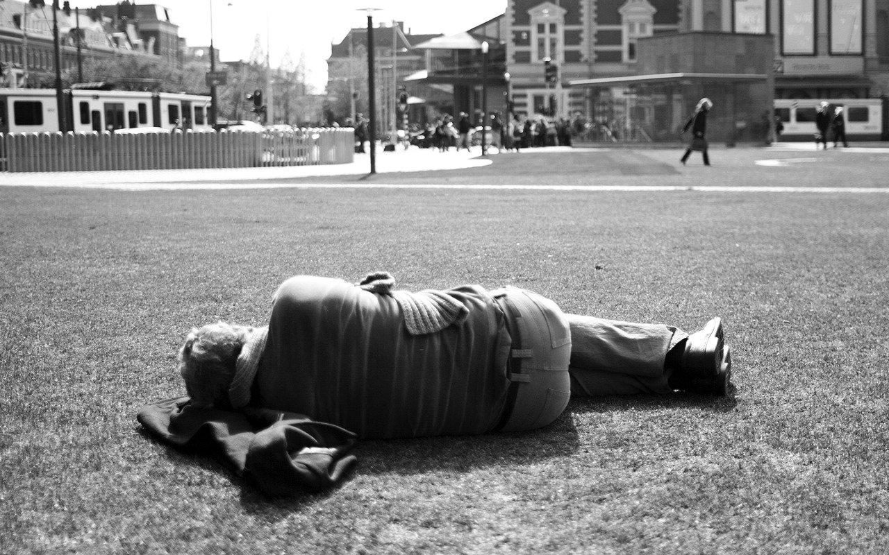 Sleeping in Museumplein, Amsterdam // May 2013