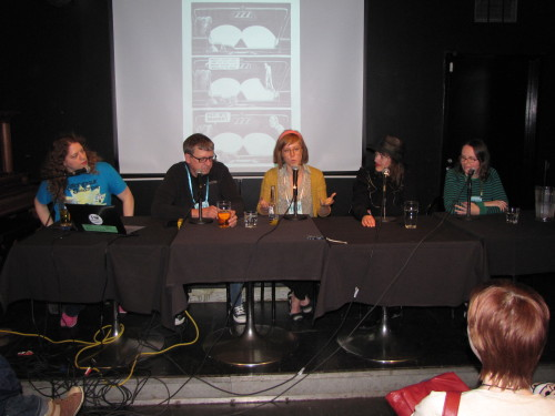torontocomics:  Couldn't make it to TCAF 2013? Well 9 of the panel presentations have shown up online, thanks to Jamie Coville and Bleeding Cool: http://www.bleedingcool.com/2013/05/14/nine-panels-at-toronto-comic-art-festival-in-audio-and-the-doug-wright-awards/?utm_source=dlvr.it&utm_medium=twitter Includes programs from Library & Educator Day, TCAF proper, and The 2013 Doug Wright Awards. Check'em out!  In case anyone was wondering, this is where I was this weekend.  Moderating panels, finding brand new comics, and meeting creators.  No other event really compares to TCAF for the sheer variety, enthusiasm, and love for comics — plus, it takes place in the Toronto Reference Library!  Library love is strong with TCAF, folks. These audio recordings include three of the panels I was a part of (moderated two, participated in two over the course of the weekend), so go have a listen!