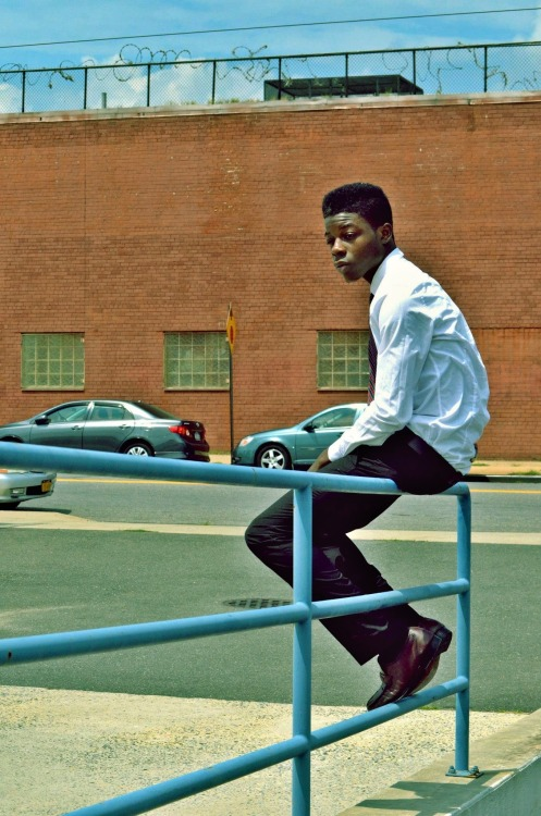 blackfashion:  Once in a while, you just wanna sit on a rail with a tie and imagine you're calling the shots.  UIII http://mindofahippy.tumblr.com/