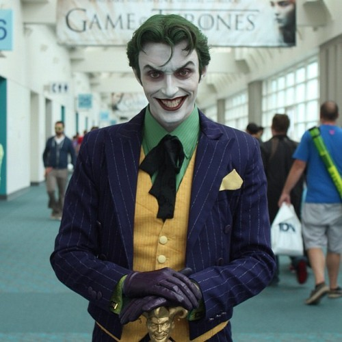 buttless-butler:  Joker from DC Comics By Anthony Misiano A.K.A Harley's Joker, he's seemingly the most well-known Joker Cosplayer in the world. Not much is needed to be said. He simply puts smiles on our faces.