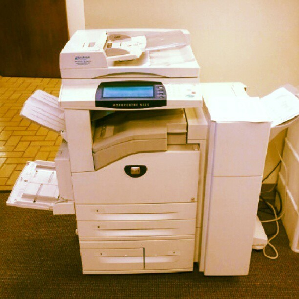 I hate you. So much. We are not friends. #hate #internprobs #printer #paper #jam #ugh