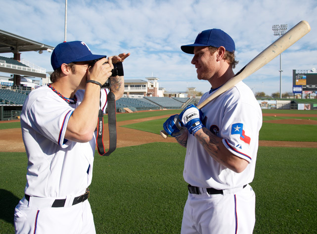 C.J. Wilson takes a photo of Josh Hamilton during Rangers spring training in 2011. Wilson would leave Texas for Anaheim the following offseason. Will Josh Hamilton leave Texas this winter? (John Biever/SI) CORCORAN: Rounding up all the action from baseball's winter meetings