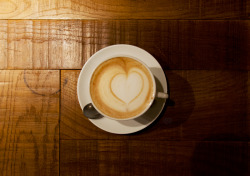 plasticknuckles:  Heart in Heart: Latte with Hazelnut Paste