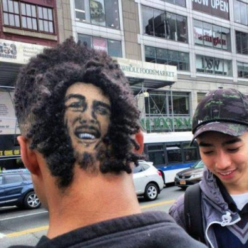 Guy Cuts Hair into Shape of Bob Marley's Head We have several questions concerning the teeth.