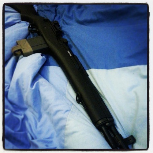 One more of my new rifle … M14 S.O.C 16 #airsoft #rifle #gun #M14