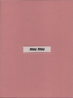 Miu Miu lookbook