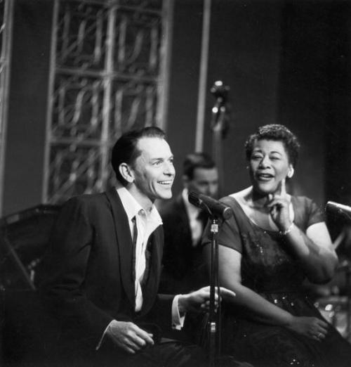 Watching the magnificent Ella Fitzgerald duet with Frank Sinatra on AspireTV. This photo is not from that show, but it is in the same timeframe (1950s). Photo by Hulton Archive/Getty Images.
