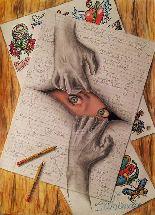Drawing Art Girl Cute Eyes Cool Painting Awesome Hands Draw Eye