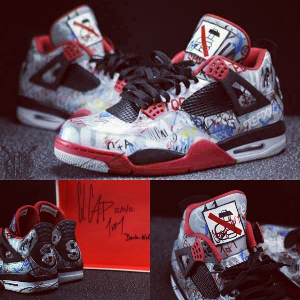 "#Airjordan 4 ""Berlin Wall"" #Custom By @elcappy And @joevenuto"