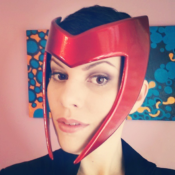 My headpiece for Scarlet Witch arrived from Snikt Shop The paint job on it is so beautiful and shiny, can't wait to start on my costume.
