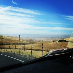 Decided to drive up to Morgan territory. Scary drive. Lovely view though. #landscape. #views #hills