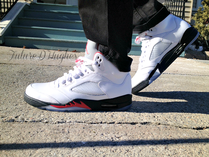 justjordans:  HEAT for the winter. AJ 5 Fire Red twitter - @iamdorkster Submitted to Just Jordans: Jays for days!