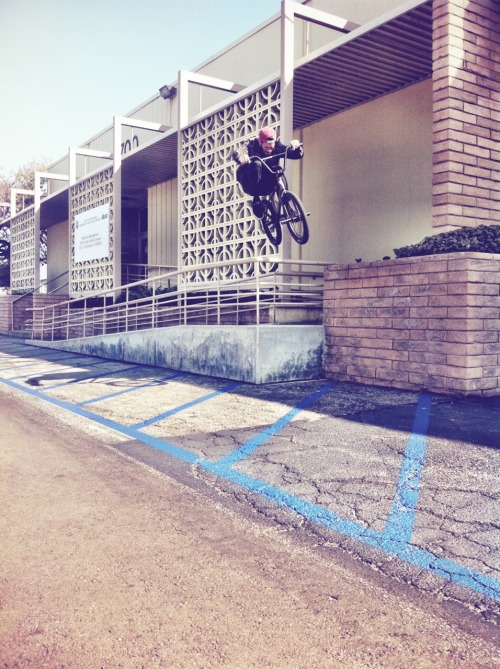 Dakota Roche, rail hop, February 2013.