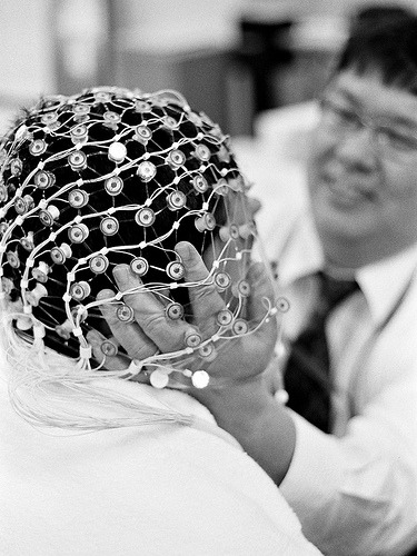 "Why Some People Don't Learn Well: EEG Shows Insufficient Processing of Information to Be Learned  The reason why some people are worse at learning than others has been revealed by a research team from Berlin, Bochum, and Leipzig, operating within the framework of the Germany-wide network ""Bernstein Focus State Dependencies of Learning."" They have discovered that the main problem is not that learning processes are inefficient per se, but that the brain insufficiently processes the information to be learned.  Really fascinating study that shows how the brain learns from sensory information (like touch) - useful data for therapists but also to help illustrate learning processes! photo via flickr:CC 