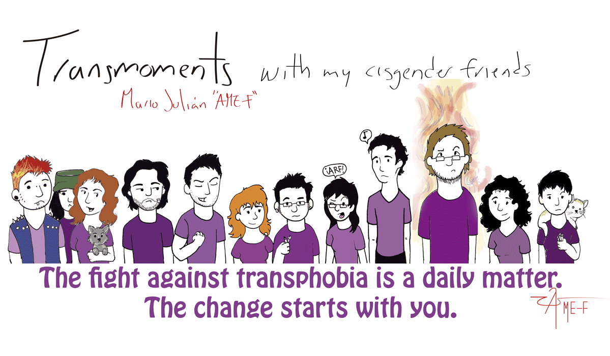 against transphobia