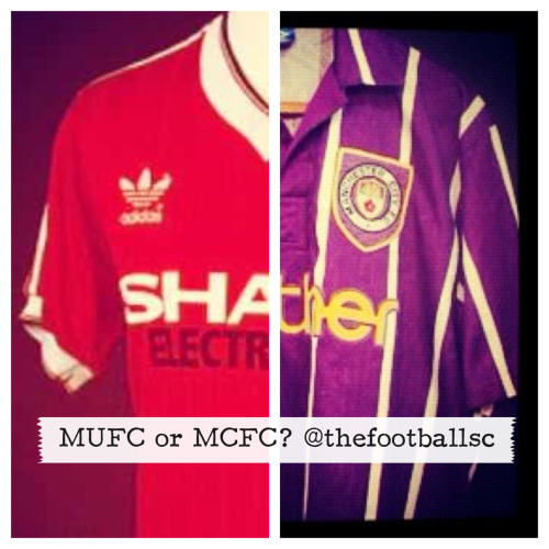 Who is your money on Manchester Utd or Manchester City? The Football Shirt Collective - Manchester United The Football Shirt Collective - Manchester City