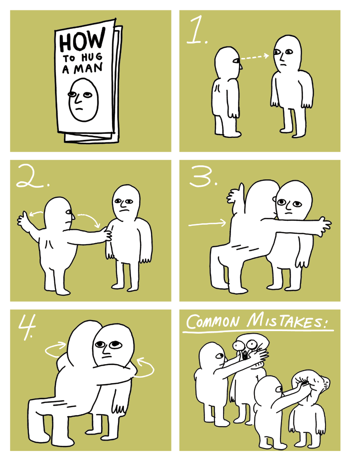 ilovecharts:  How To Hug A Man