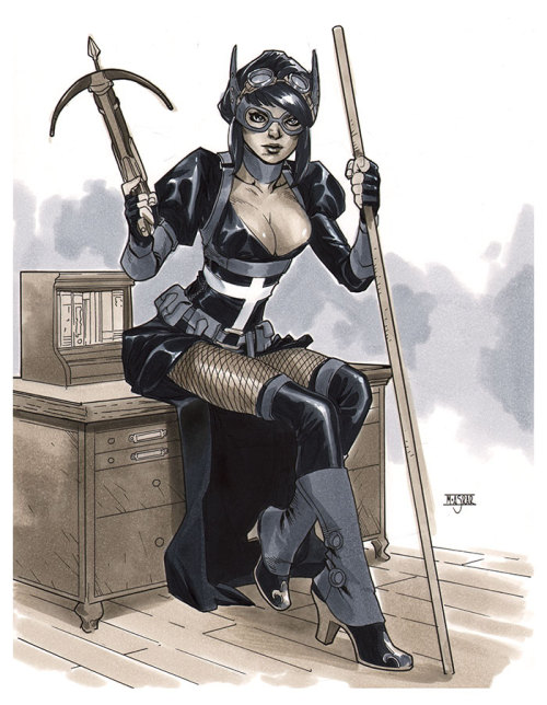 deensey:  momsreadcomics:  Steampunk Huntress - NYCC 2012 Pre-Show Commission by ~MahmudAsrar   Oh hey, it's almost @arkhamasylumdoc!