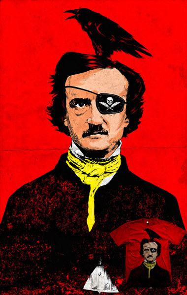 EdgARRR! Actually, Edgar Allan Poe is a pirate.Ahoyyy!http://www.threadless.com/threadless/edgarrr/