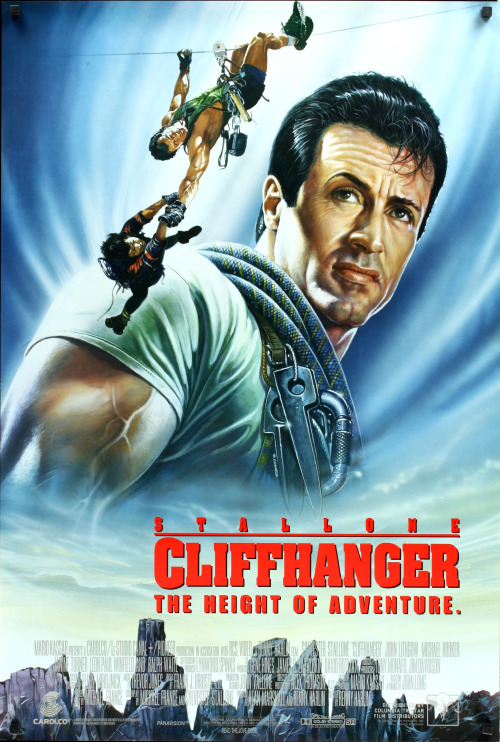 Cliffhanger (1993) At the risk of being howled down by fans of the Italian Stallion, I have no qualms in saying that 'Cliffhanger' is Stallone's best movie and whilst that isn't saying much, plus I have no real interest in Stallone's body of work, this is still a movie where his limited acting capability is given all the space it needs to be surpassed by scenery, stunts and a great bad guy (i.e. John Lithgow). 'Cliffhanger' is one of those dime-a-dozen action films that have been pumped out by Hollywood over the last 20-30 years, and although it isn;t unique there is a certain majesty in the use of the Dolomites (standing in for some bloody high US mountains) as the back drop for all the stunts and Stallone muscle-work. I can't think of another action flick from the likes of Seagal, Van Damme or Willis where the environment is so integral to the drama and the look of the movie. John Lithgow and other supporting cast members are great foils for Sly's mumbled and steroid fuelled performance. Yes, the baddies get killed one by one. Yes, Janine Turner's character is rescued by Sly and his best friend (played by Michael Rooker) reconciles with him at the end of the film. It's conventional and hardly an art film…yet 'Cliffhanger' succeeds in its spectacle and its thrills. Cons: This is a Sylvester Stallone film so check your brain in at the door before watching it. There is no deeper meaning to this movie than Sly will defeat the baddies. Sylvester's acting technique (involving grunts, exposed muscles, more grunts and the occasional pithy one liner) is hardly Stanislavkian, but it is all to be expected in such a movie. I understand that technically many aspects of this movie are patently ridiculous (i.e. those involving mountain climbing). Okay, so this isn't a documentary on such a dangerous past time, but having said that it doesn't take too much for a movie to ground itself in a little reality before becoming a flight of fantasy. Final Rating:  2 out of 5 Bill Collins