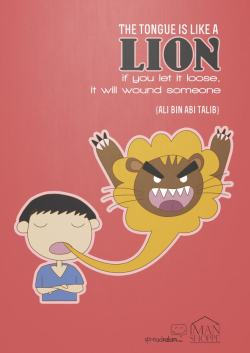 islamographic:  The Tongue is like a LION…