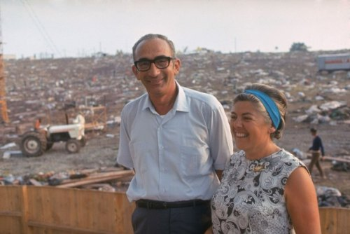 Max and Miriam Yasgur on their land after Woodstock, photographed by Bill Eppridge, August 1969