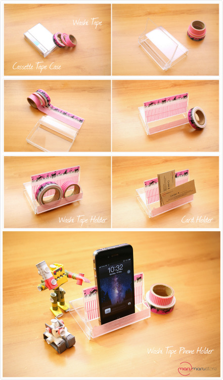 Cassette Tape Upcycled iPhone Stand found at Maru Store