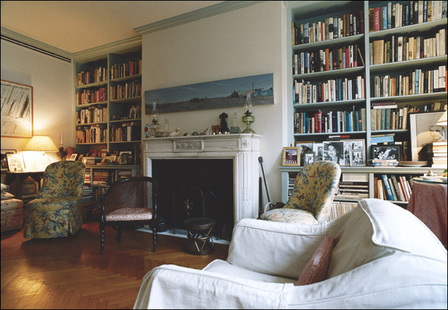 keteljuan:  Joan Didion's living room in New York
