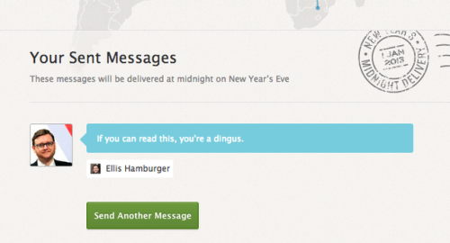 Facebook security hole allows anyone to view private New Year's Midnight Delivery messages and photos
