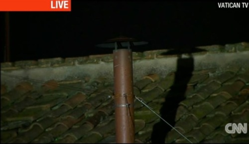 Live Vatican chimney cam. SO EXCITING.