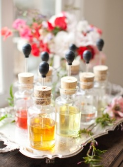 myfairweddingblog:  Source: A make your own perfume bar! This is a great ideal for a wedding shower or for a classy bachelorette party.