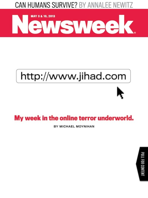 newsweek:  Michael Moynihan spends a week in the online terror underworld—most of which happens on Facebook—for our cover story: http://www.jihad.com.