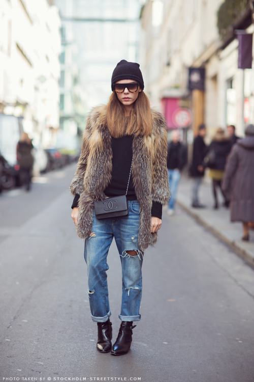what-do-i-wear:  Evangelie (image: stockholmstreetstyle)