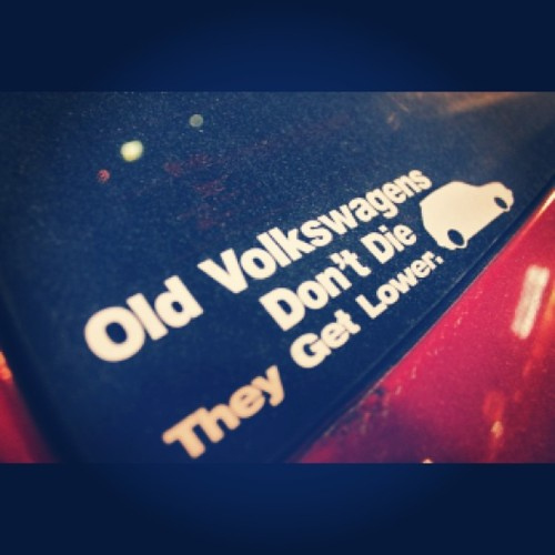 #VW #Volkswagen #Mk1 #Mk2 #Mk3 #Mk4 #Golf #Jetta #Scirocco #Corrado #Rabbit #GTI #Dasher #Fox #Quantum #Vanagon #Polo #Lupo #Derby #Vento #Bora #LowerIt