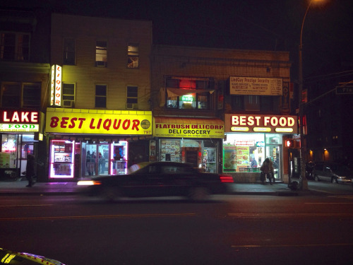 Best liquor, best food Flatbush Avenue, 8:41pm