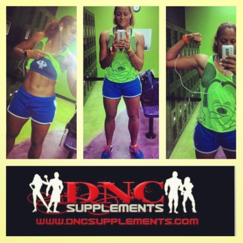 Having a little fun at the gym.  #wdt #dnc @dnc_supplements_tampa #teamfitness #training #professional #volleyball #female #athlete