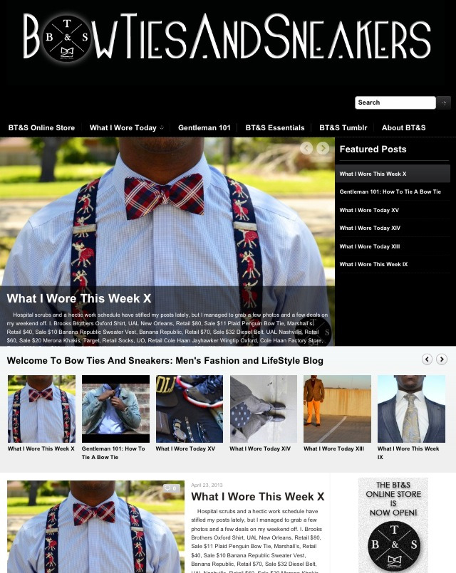 www.BowTiesAndSneakers.com.  #TheMove