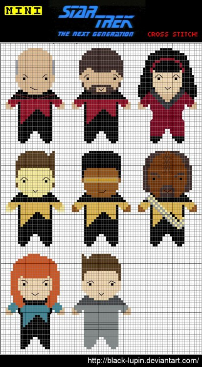 Mini StarTrek TNG Cross Stitch by *black-lupin (#deviantart)