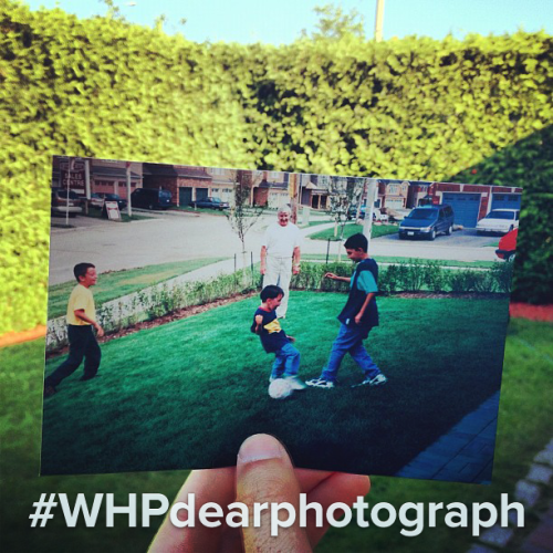 instagram:  This Weekend's Hashtag Project: #WHPdearphotograph  Weekend Hashtag Project is a series featuring designated themes & hashtags chosen by Instagram's Community Team. For a chance to be featured on the Instagram blog, follow @instagram and look for a photo announcing the weekend's project every Friday.  This week we've been inspired by @dearphotograph and, as a result, we're asking you to take an old film photograph or antique postcard from the past, hold it up against the original setting and then take a picture of it for #WHPdearphotograph. Some tips to get you started: tap to focus on the photograph in the foreground before taking the picture, share a story or memory about the old film photograph or antique postcard in your caption and, most importantly, be patient! It may take some time to line up the photo—try moving your hand closer or further away from the object you're shooting.  PROJECT RULES: Please only add the hashtag #WHPdearphotograph to photos taken over this weekend and only submit your own photographs to the project. Any image taken then tagged over the weekend is eligible to be featured right here Monday morning!