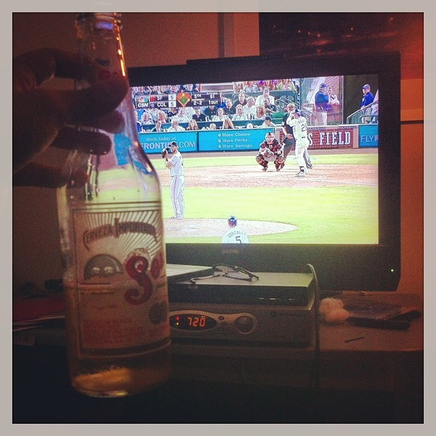 Feels good to relax with some #beer and #baseball