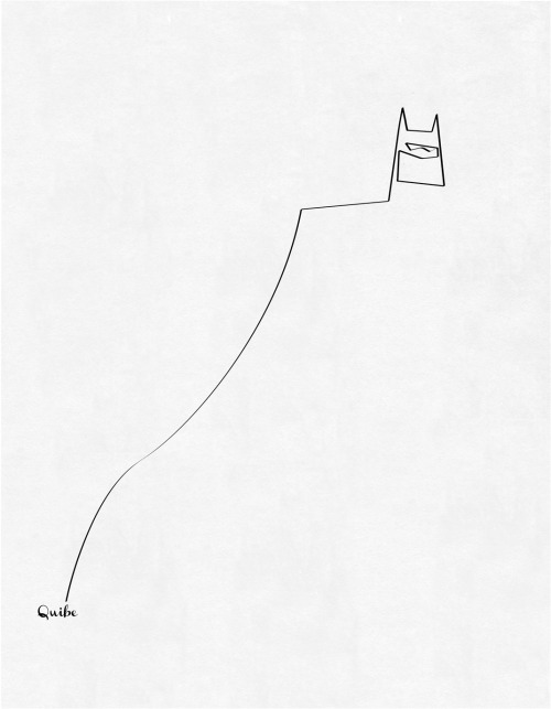 """One line Batman"" quibe  (France) via Curioos"