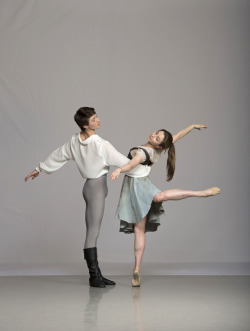 "ele-bee:  Alice Laidler and Joshua Earl in the Fireside Pas de Deux from ""Cinderella.""Photo © Bill Cooper."