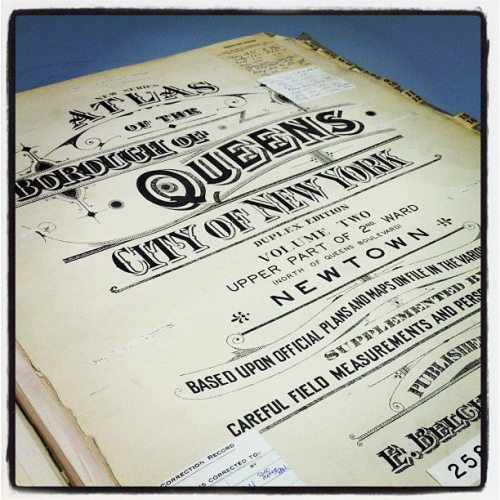 queenslibrary:  Enamored with 1920s typography. Pictured: One of the 5,000 maps we have in our Archives, covering the years 1639 to the present.