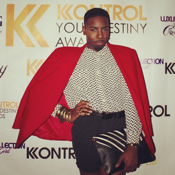 "SNAPSHOT:: On The Red Carpet at Kontrol Magazine's ""Kontrol Your Destiny Awards"" Last Thursday! 🐼😍😘😍🐼"