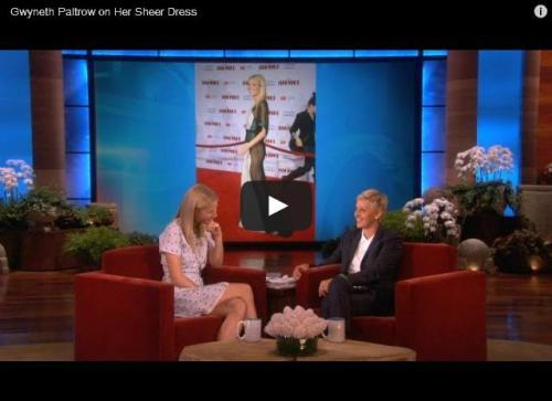 Watch Gwyneth Paltrow explain the no underwear situation to Ellen.