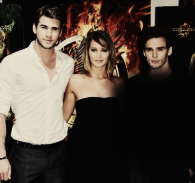 Liam Hemsworth, Jennifer Lawrence & Sam Claflin at the The 66th Annual Cannes Film Festival 5.18.13