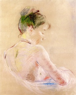 bofransson:  Girl with Bare Shoulders Berthe Morisot - 1885